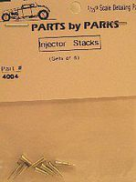 Parts-By-Parks Hilborn Style Injection Stacks 5/16 x 3/32 x 9/32 (Spun Aluminum)(8) Engine Detail #4004