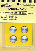 Parts-By-Parks 1/25 Salt Flat Type Disc-Scale 15 5/8 dia. (Spun Aluminum) (4)