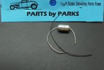 Parts By Parks 1/25 Flathead Long Finned Oil Filter (Spun Aluminum)