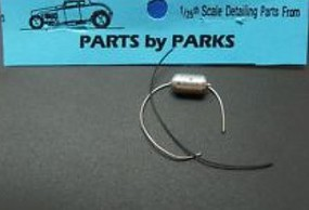 Parts-By-Parks 1/25 Flathead Long Finned Oil Filter (Spun Aluminum)