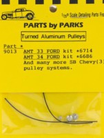 Parts-By-Parks 1/25 Pulley Set 1933-34 Ford & SB Chevy (Spun Aluminum) (3)
