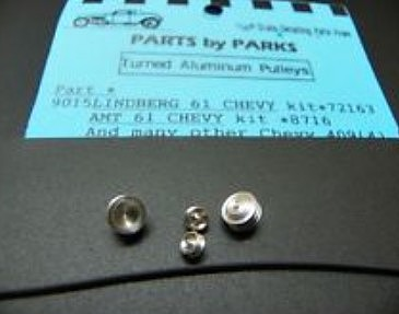 Parts-By-Parks Pulley Set 1961 Chevys & Chevy 409 Plastic Model Vehicle Accessory 1/25 #9015