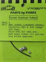 Parts-By-Parks 1/25 Pulley Set Chrysler & Ford Long Block (Spun Aluminum) (3)