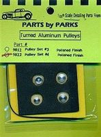 Parts-By-Parks Pulley Set 4 (Polish Finish) Plastic Model Vehicle Accessory 1/25 Scale #9022