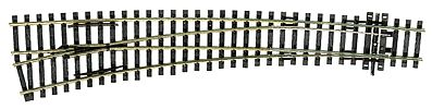 Peco Code 100 Curved Double Radius Turnout Left Hand Model Train Track HO Scale #1043