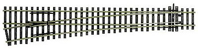 Peco Code 100 Curved Large Radius Turnout Left Hand Model Train Track HO Scale #1045