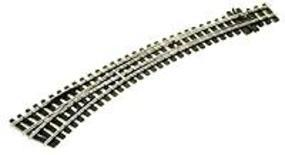 Peco (12mm Meter Gauge) Curved Turnout Left Hand Model Train Track HOm Scale #1487