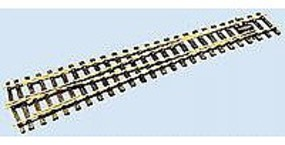 Peco Code 124 Medium Radius Left Hand Turnout w/Electrofrog Model Train Track O Scale #2006