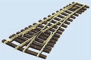 Peco 48'' Radius Turnout w/Insul Frog Code 250 Left Hand -- Model Train Track -- G Scale -- #996