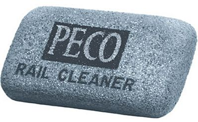 Peco Rail Cleaner Abrasive Rubber Block -- Model Train Accessory -- #pl41