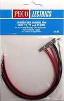 Peco O/HO Code 70, 75, 83 Power Feed Rail Joiners (4prs) Model Train Accessory #pl81
