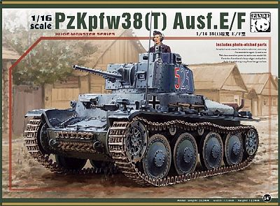 Panda Hobby Models PzKpfw 38(T) Ausf E/F Tank (New Tool) (JUN) -- Plastic Model Tank Kit -- 1/16 Scale -- #16001