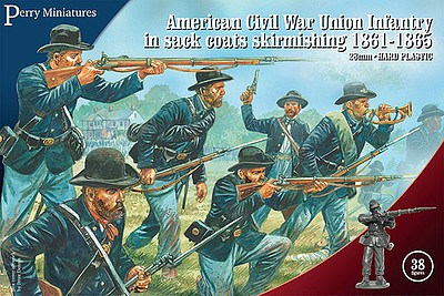 Perry 28mm American Civil Union Infantry in Sack Coats Skirmishing 1861-1865 (38)