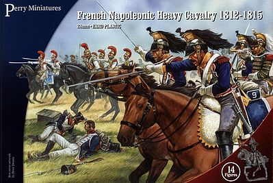 Perry Miniatures French Napoleonic Heavy Cavalry 1812-15 (14 Mtd) -- Plastic Model Military Figure -- 28mm -- #202