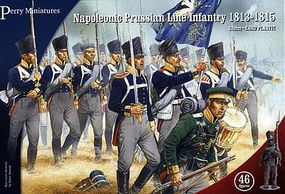 Perry Napoleonic Prussian Line Infantry 1813-15 (46) Plastic Model Military Figure 28mm #205