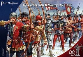 Perry Wars of the Roses Infantry 1455-87 (40) Plastic Model Military Figure 28mm #301