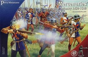 Perry Mercenaries European Infantry 1450-1500 (40) Plastic Model Military Figure 28mm #302
