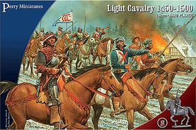 Perry War of the Roses Mounted light Cavalry 1450-1500 Plastic Model Military Figure 28mm #305