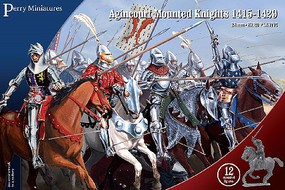 Perry 28mm Agincourt Mounted Knights 1415-1429 (12)