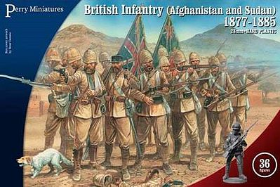 Perry Miniatures British Infantry in Afghanistan & Sudan 1877-85 -- Plastic Model Military Figure -- 28mm -- #901
