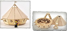 Pathfinders Leonardo DaVinci Armored Tank Wooden Kit
