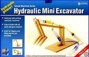 Pathfinders Hydraulic Mini Excavator Wooden Kit