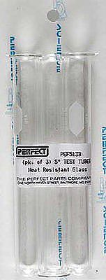 Perfect Parts Test Tubes 5/8'' x 5'' Heat Resistant (3/cd)