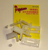 Pegasus T & Os Parts (2) to Make Hopper Kits Plastic Model Vehicle Accessory 1/24 Scale #1017