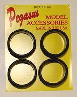 Pegasus Ultra Low 23 Profile Rubber Tires (4) Plastic Model Tire Wheel 1/24 Scale #1049