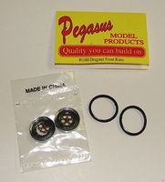 Pegasus Dragster Front Rims w/Tires (2) Plastic Model Vehicle Accessory 1/24 Scale #1160
