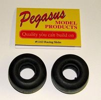 Pegasus Racing Tire Slicks (2) Plastic Model Tire Wheel 1/24 Scale #1163