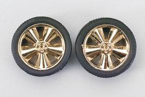 Pegasus Phat Boyz Gold w/Low Profile Tires (4) Plastic Model Tire Wheel 1/24 Scale #1240