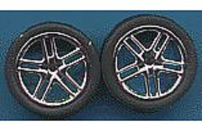 Pegasus Allantes Chrome Rims w/Low Profile Tires (4) Plastic Model Tire Wheel 1/24 Scale #1242