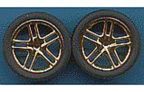 Pegasus Allantes Gold Rims w/Low Profile Tires (4) Plastic Model Tire Wheel 1/24 Scale #1244