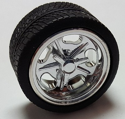 Pegasus 1/24-1/25 Shueys Chrome Rims with Tires (4) Plastic Model Tire Wheel #1279