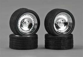 19 CLs w/Tires Chrome (4) Plastic Model Tire Wheel 1/24 Scale #1285