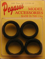 Pegasus Bridgestone SO2's 225/50-16 Tires (4) Plastic Model Tire Wheel 1/24 Scale #1601