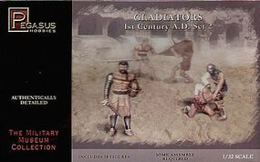 Pegasus Gladiators 1st Century AD Set #2 (10) Plastic Model Military Figure Kit 1/32 Scale #3202
