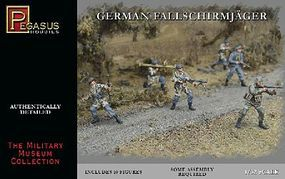 Pegasus German Fallschirmjager (10) Plastic Model Military Figure 1/32 Scale #3204