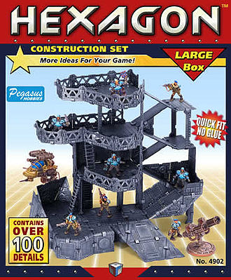 Pegasus Hobbies Hexagon Large Construction Set (12-Frames, 100+ Details)