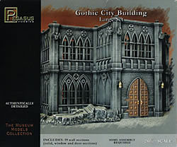 Pegasus Hobbies Gothic City Building Large Set -- Plastic Model Building Kit -- 28mm Scale -- #4923