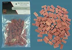 Pegasus Large Red Bricks (Resin) Model Railroad Scenery Supply Multi-Scale #5197