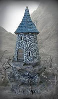Pegasus Wizards Tower (Painted) Plastic Model Diorama 1/32 or 1/72 Scale #5252