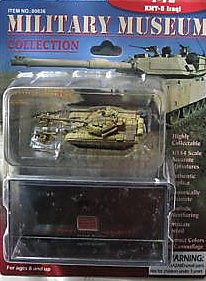 Pegasus Hobbies T72 Iraqi Tank w/KMT5 (Assembled) -- Pre-Built Plastic Model Tank -- 1/144 Scale -- #636
