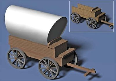 WOODEN WAGON 1-48