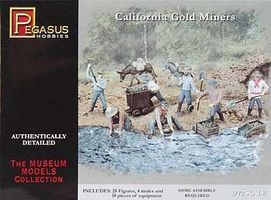 Pegasus California Gold Miners Plastic Model Military Figure 1/72 Scale #7050