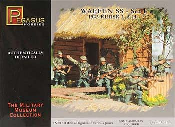 Pegasus Hobbies German Waffen SS Set 1 (46) -- Plastic Model Military Figure -- 1/72 Scale -- #7201