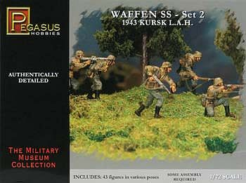 Pegasus Hobbies German Waffen SS Set 2 (43) -- Plastic Model Military Figure -- 1/72 Scale -- #7202