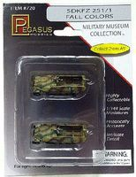 Pegasus SdKfz 251/1 Halftrack Camo (2) (Assembled) Plastic Model Military Vehicle 1/144 Scale #720