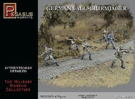 Pegasus German Fallschirmjager (40) Plastic Model Military Figure 1/72 Scale #7224